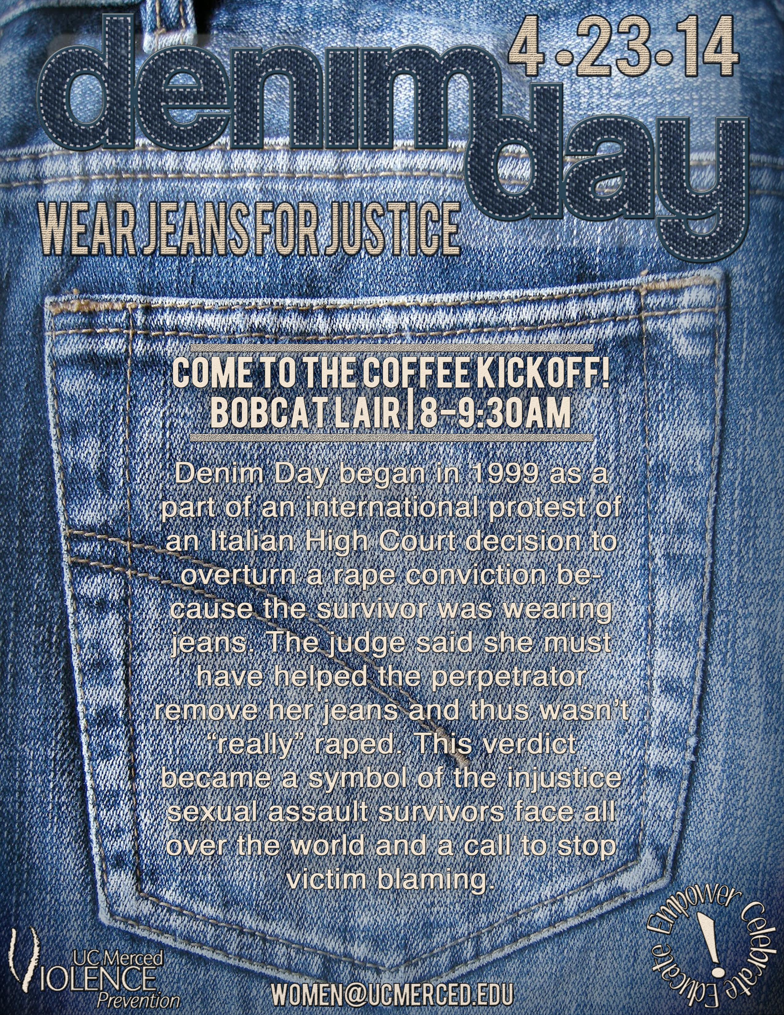 Denim Days With Tobi: Denim Day: Wear Jeans For Justice